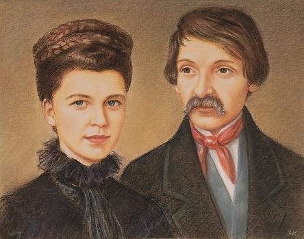Fazola Henrik és felesége, Karl Tekla